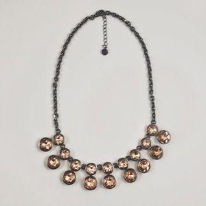 Loft Pink Crystal Statement necklace